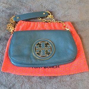 Tory Burch Amanda Logo Clutch w/ Dust Bag